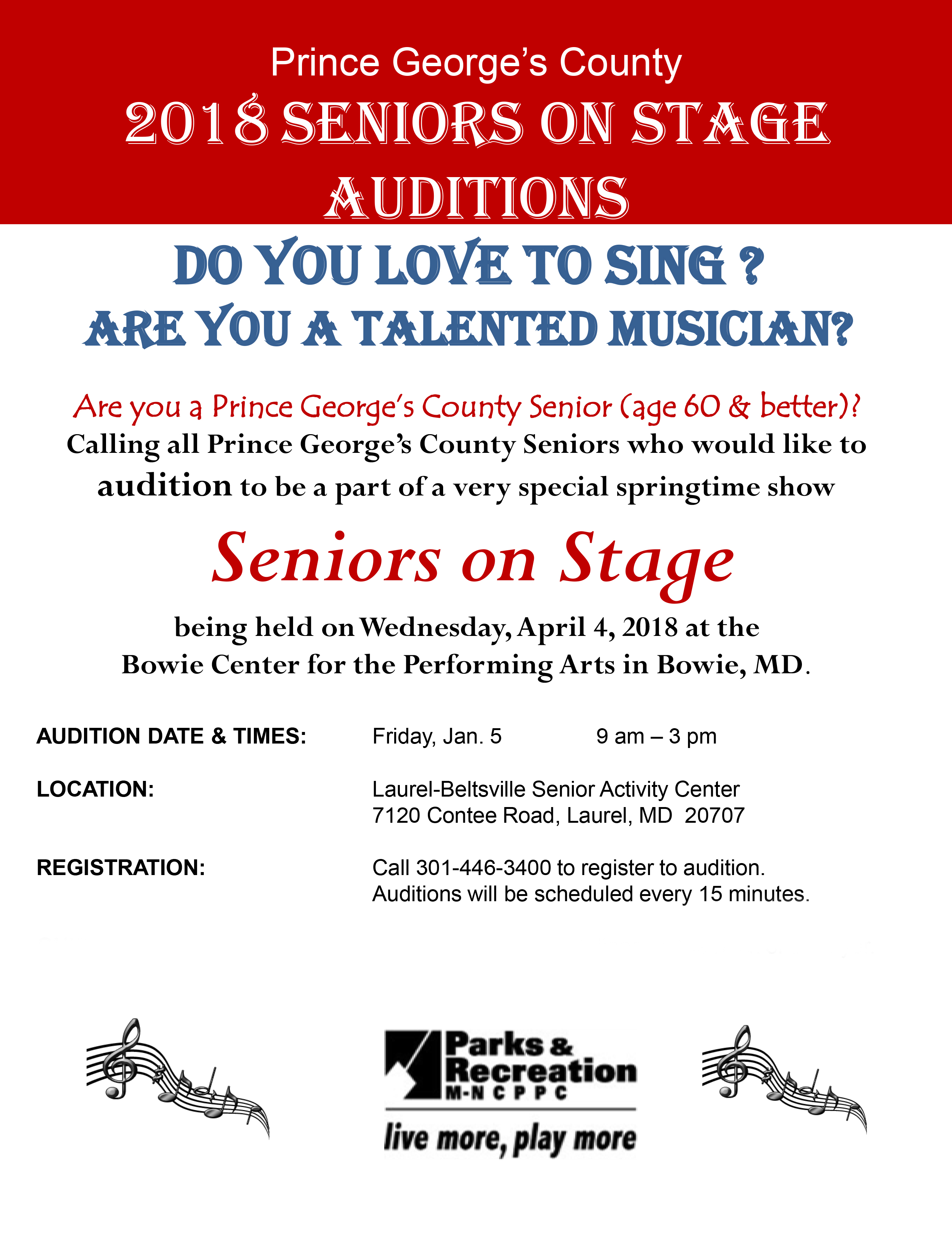 audition date 2018
